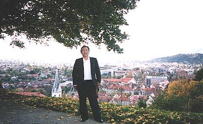 リュブリアナ城にて,バロック都市の眺めが素晴しい