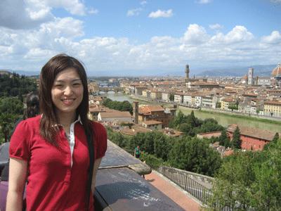 フィレンツェ大学(平成19年度交換留生) 阿部 美里